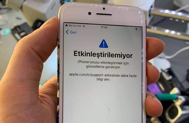 iphone 7 şebeke sorunu