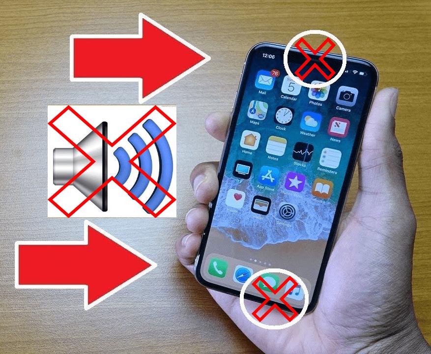 iphone x ses hiç gelmiyor