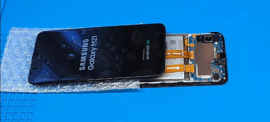 samsung galaxy m21 ekran değişimi